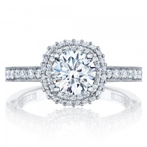 HT2522CU75 Tacori Crescent 18 Karat Engagement Ring