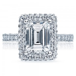 HT2522EC75X55 Platinum Tacori Blooming Beauties Engagement Ring