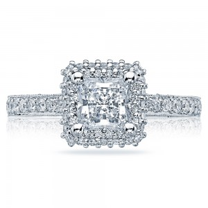 HT2522PR55 Platinum Tacori Blooming Beauties Engagement Ring