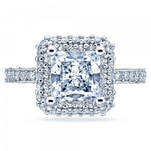 HT2522PR75 Tacori Crescent Platinum Engagement Ring