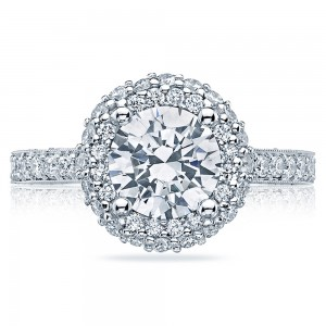 HT2522RD75 Platinum Tacori Blooming Beauties Engagement Ring