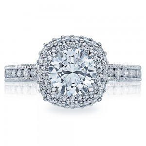 HT2523CU7 Tacori Crescent 18 Karat Engagement Ring