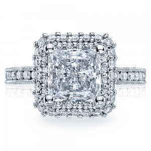 HT2523PR75 Tacori Crescent Platinum Engagement Ring