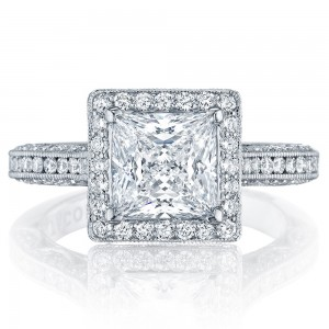 HT2550PR7 Platinum Tacori Classic Crescent Engagement Ring