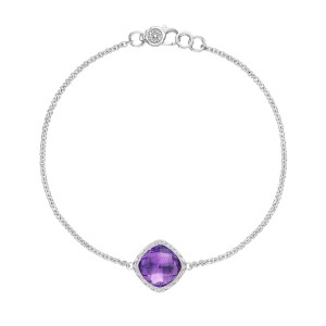 SB22301 Tacori Solitaire Cushion Gem Bracelet with Amethyst