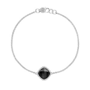 SB22319 Tacori Solitaire Cushion Gem Bracelet with Black Onyx