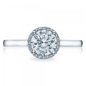 Simply Tacori Platinum Diamond Solitaire Engagement Ring 49RD65