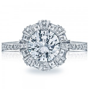 Simply Tacori Platinum Solitaire Engagement Ring 2643RD65