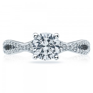 Tacori 18 Karat Simply Tacori Engagement Ring 3004