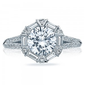 Tacori 18 Karat Simply Tacori Solitaire Engagement Ring 2525RD7