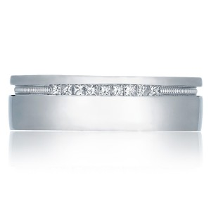 Tacori 2556PR Platinum Crescent Wedding Band