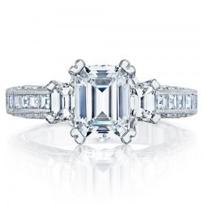Tacori Crescent Platinum Engagement Ring HT227312X