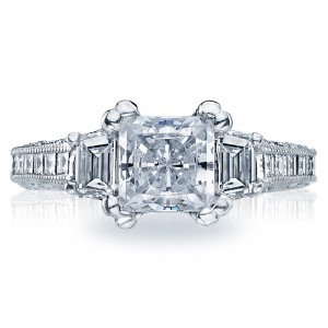 Tacori Crescent Platinum Engagement Ring HT2509PR12X
