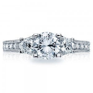 Tacori Crescent Platinum Engagement Ring HT25126512X