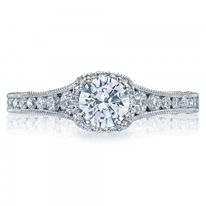 Tacori Crescent Platinum Engagement Ring HT2515RD5512X