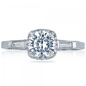 Tacori Dantela Platinum Engagement Ring 2626RD75
