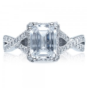 Tacori Dantela Platinum Engagement Ring 2627ECLG