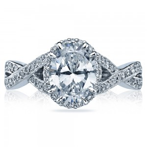 Tacori Dantela Platinum Engagement Ring 2627OVLG