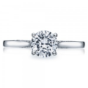 Tacori Dantela Platinum Engagement Ring 2638RD65