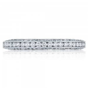 Tacori HT2550B12 Platinum Classic Crescent Wedding Ring