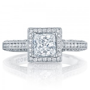 Tacori HT2550PR55 Platinum Classic Crescent Engagement Ring