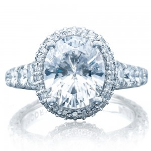 Tacori HT2624OV10X85 Platinum RoyalT Engagement Ring