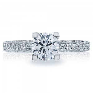Tacori Platinum Crescent Engagement Ring HT2511A12X