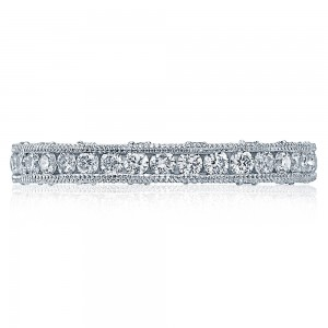 Tacori Platinum Crescent Silhouette Wedding Band HT2510B