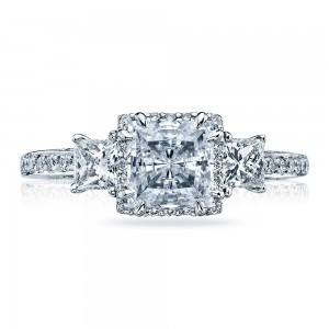 Tacori Platinum Dantela Engagement Ring 2622PRLGP