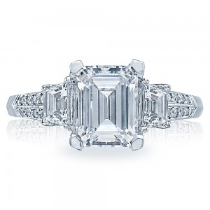 Tacori Platinum Simply Tacori Engagement Ring 2579EM85X65