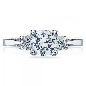 Tacori Platinum Simply Tacori Engagement Ring 2635RD55