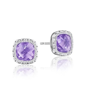 Tacori SE24501 Cushion Gem Earrings with Amethyst