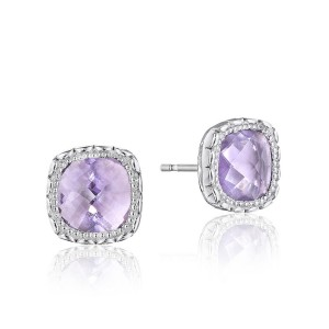 Tacori SE24513 Cushion Gem Earrings with Rose Amethyst