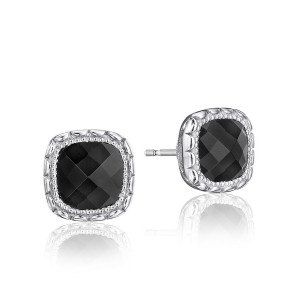 Tacori SE24519 Cushion Gem Earrings with Black Onyx