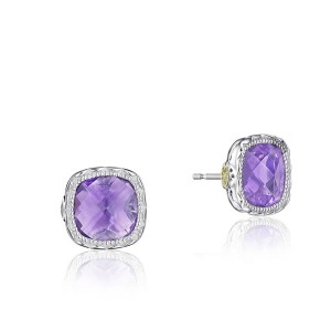 Tacori SE24701 Cushion Gem Earrings with Amethyst