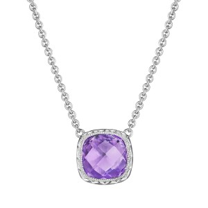Tacori SN23201 Cushion Gem Necklace with Amethyst