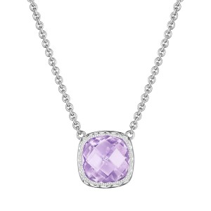 Tacori SN23213 Cushion Gem Necklace with Rose Amethyst