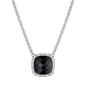 Tacori SN23219 Cushion Gem Necklace with Black Onyx