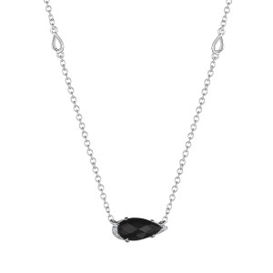 Tacori SN23519 Solitaire Pear-Shaped Gem Necklace with Black Onyx