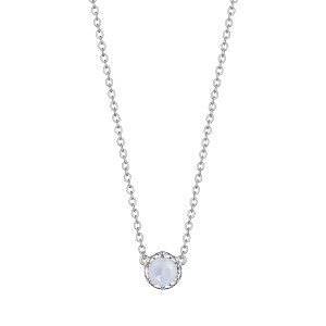 Tacori SN23603 Cushion Gem Necklace with Chalcedony