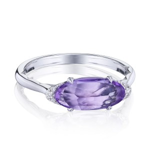Tacori SR22301 Solitaire Oval Gem Ring with Amethyst