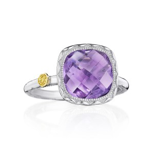Tacori SR23101 Cushion Gem Ring with Amethyst