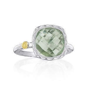 Tacori SR23112 Cushion Gem Ring with Prasiolite