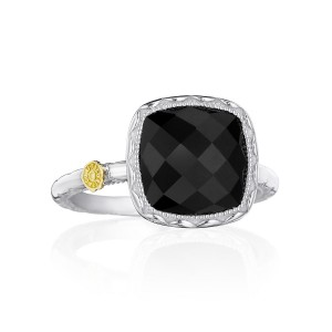 Tacori SR23119 Cushion Gem Ring with Black Onyx