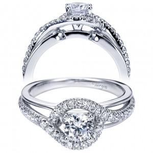 Taryn 14k White Gold Round Bypass Engagement Ring TE6952W44JJ
