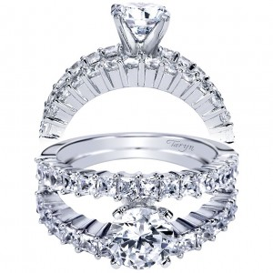 Taryn 14k White Gold Round Split Shank Engagement Ring TE4235W44JJ