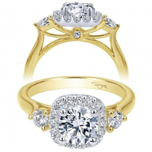 Taryn 14k Yellow/White Gold Round Halo Engagement Ring TE7510M44JJ