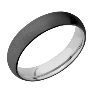 Lashbrook TISLEEVEZ5D Zirconium and Titanium Wedding Ring or Band