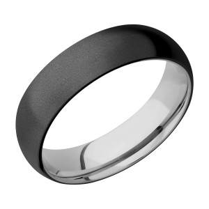 Lashbrook TISLEEVEZ6D Zirconium and Titanium Wedding Ring or Band