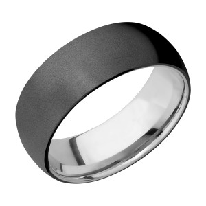 Lashbrook TISLEEVEZ8D Zirconium and Titanium Wedding Ring or Band